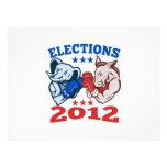 Mascota republicana 2012 del elefante del burro de comunicados personalizados