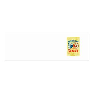 Mascota republicana los E.E.U.U. del elefante del Tarjetas De Visita Mini