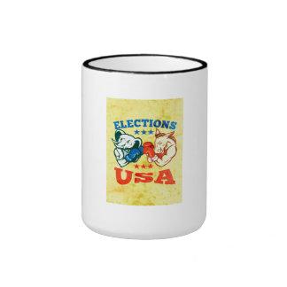 Mascota republicana los E.E.U.U. del elefante del  Taza