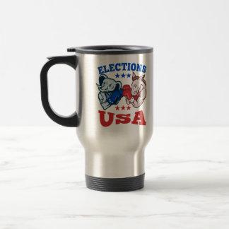 Mascota republicana los E.E.U.U. del elefante del  Tazas De Café
