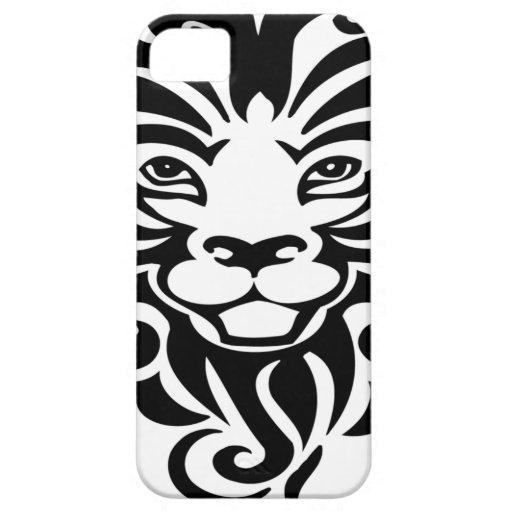 Mascota salvaje hermosa del león iPhone 5 funda