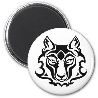 Mascota salvaje magnífica del lobo imán para frigorífico