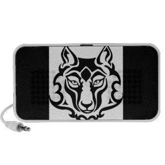 Mascota salvaje magnífica del lobo iPhone altavoces