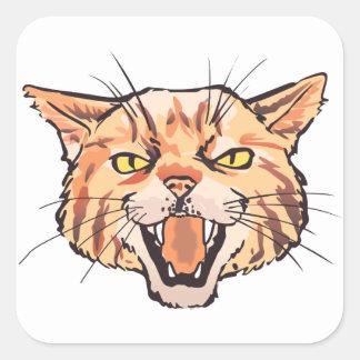 Mascota salvaje pegatina cuadrada
