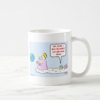 mascotas de los ángeles de dios taza de café