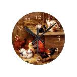 Mascotas del conejo del gallo relojes