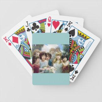 Mascotas del gato del cordero de los muchachos de baraja cartas de poker
