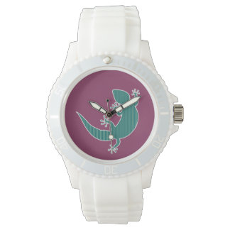 ¡Mascotas del modelo - Gecko! Relojes De Pulsera