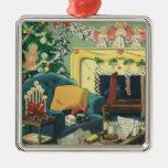 Mascotas del navidad del vintage ornamentos de navidad