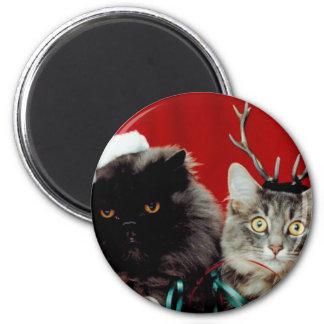 Mascotas del navidad imán redondo 5 cm