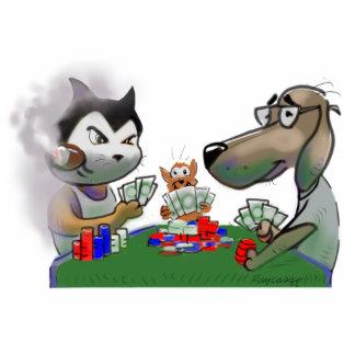 Mascotas del póker fotoescultura vertical