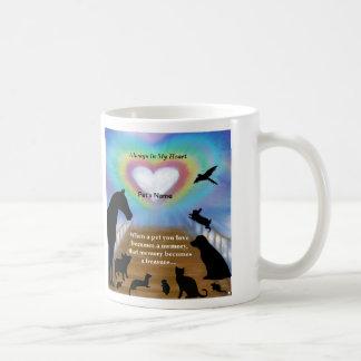 Mascotas del puente del arco iris tazas