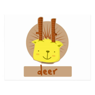 mascotas lindas de los ciervos tarjeta postal