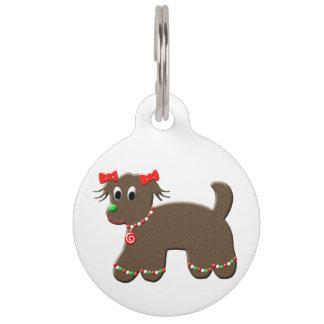 Mascotas lindos del perrito del navidad del placas de mascota