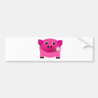 mascotas lindos dulces del cochinillo del rosa del pegatina de parachoque