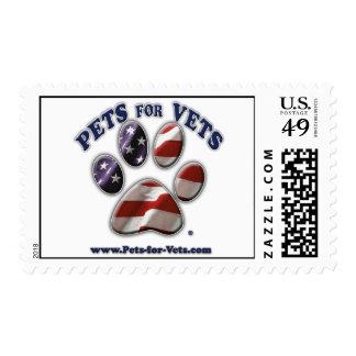 Mascotas para el sello de los veterinarios