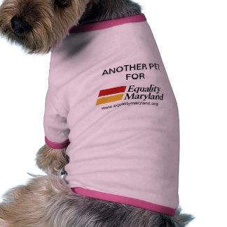 Mascotas para la igualdad camisas de mascota