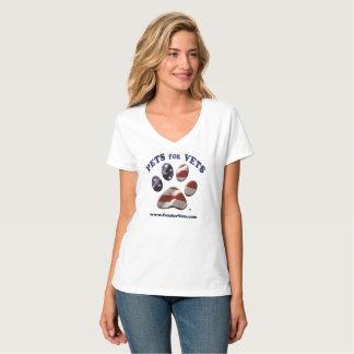 Mascotas para la ropa de los veterinarios playera