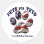 Mascotas para los veterinarios pegatina redonda