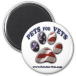 Mascotas para los veterinarios www.pets-for-vets.c iman de frigorífico