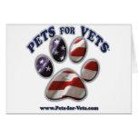 Mascotas para los veterinarios www.pets-for-vets.c tarjetón