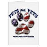 Mascotas para los veterinarios www.pets-for-vets.c felicitación