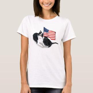 Mascotas patrióticos playera
