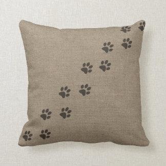 Mascotas Pawprints en diseño del efecto de la Cojín Decorativo