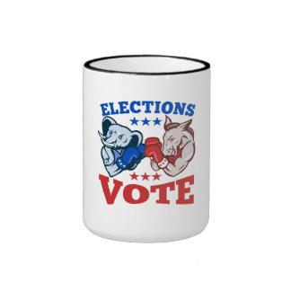 Mascotas republicanas del elefante del burro de De Tazas