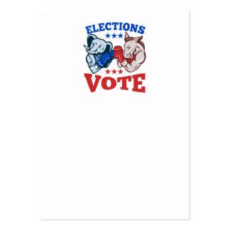 Mascotas republicanas del elefante del burro de tarjetas de visita grandes