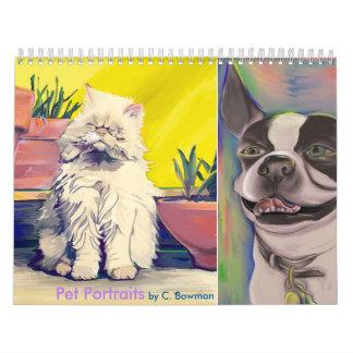 Mascotas - retratos de perros, de gatos, y de un calendario
