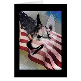 Mascotas y veterinarios rescatados tarjeta pequeña