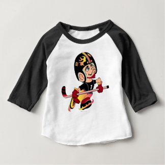 MASCOTTE HOCKEY PLAYER Baby American Apparel 3/4 S Baby T-Shirt