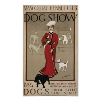 Mascoutah Kennel Club Dog Show 1901 Poster