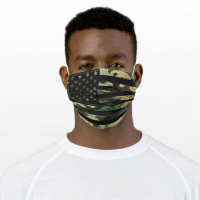 Masculine American Flag Grunge Camouflage Camo Cloth Face Mask