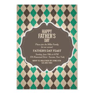 Masculine Argyle Father's Day Invitation