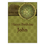 Masculine Birthday with Steel and Gears Card