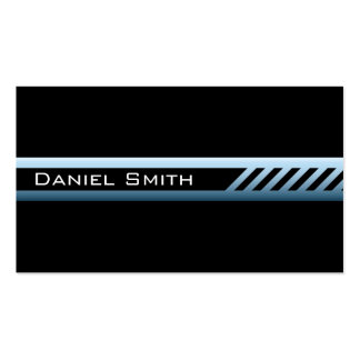 Masculine black and blue-gray professional profile Double-Sided standard business cards (Pack of 100)