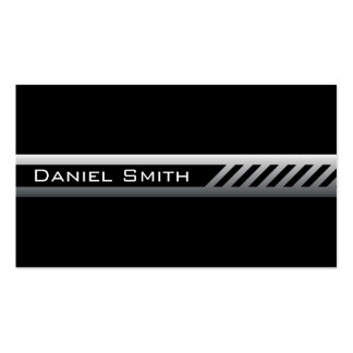 Masculine black and gray professional profile Double-Sided standard business cards (Pack of 100)