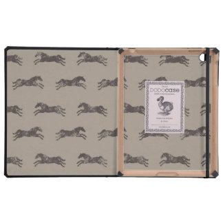 Masculine Black and Tan Classic Equestrian Horses iPad Cover
