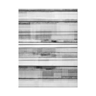 'Masculine' Black and White Abstract Art Canvas Print
