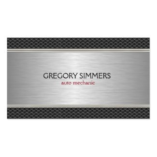 Masculine Black & Gray Metallic Background Double-Sided Standard Business Cards (Pack Of 100)