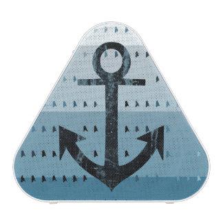 Masculine Blue Anchor Nautical Pattern Design Speaker