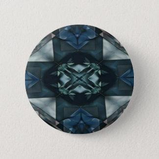 Masculine Blue Monochromatic Pattern Pinback Button