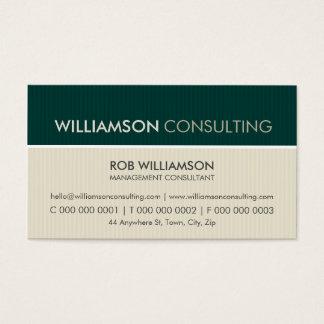 MASCULINE BUSINESS CARD :: minimal pinstripe 2