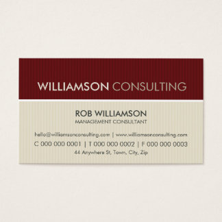 MASCULINE BUSINESS CARD :: minimal pinstripe 7