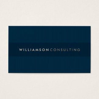 MASCULINE BUSINESS CARD :: simple pinstripe 3D 3