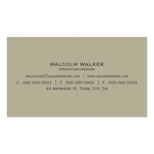 MASCULINE BUSINESS CARD :: simply smart 5 (back side)