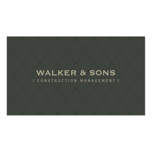 MASCULINE BUSINESS CARD :: simply smart 5 (front side)