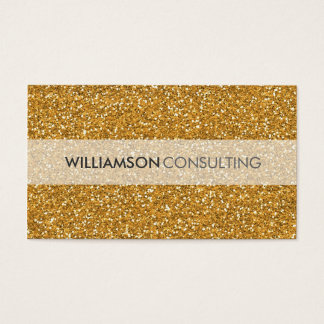 MASCULINE BUSINESS CARD smart simple gold glitter